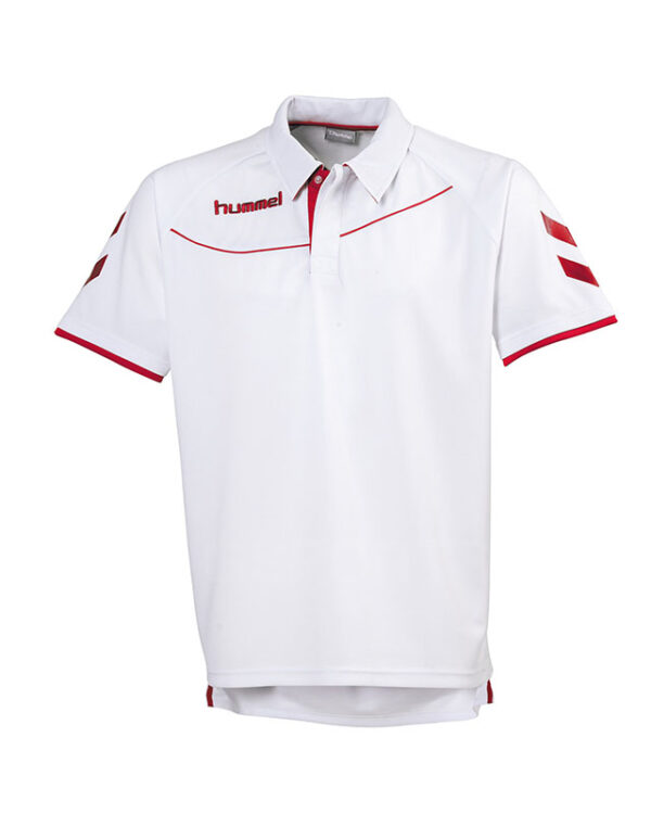 polo-hummel-corporate-blanc-rouge