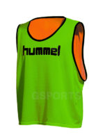chasuble-hummel-reversible-neon-vert-neon-orange